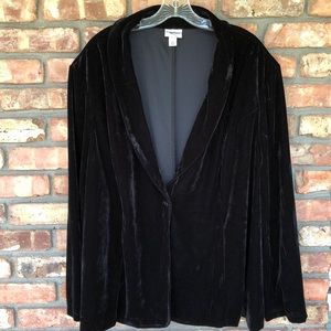 Ava & Viv black velvet plus size blazer jacket